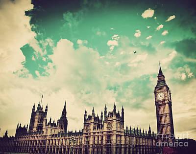 Politics Photograph - London Uk Big Ben The Palace Of Westminster by Michal Bednarek