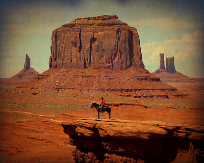 Mission Ventures Photograph - Lone Rider by Terry Eve Tanner