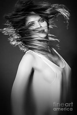 Hairstyle Digital Art - Long Hair Flying In Motion by Aleksey Tugolukov