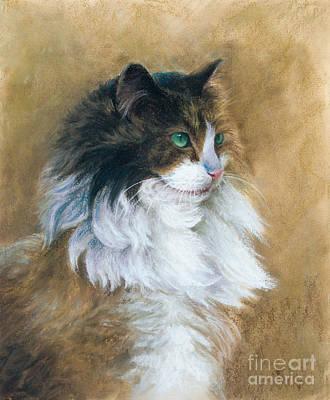 Pastel Drawing - Longhaired by Tobiasz Stefaniak