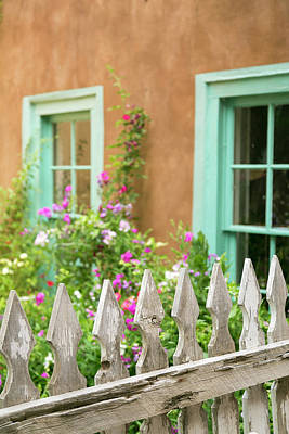 Looking Into A Garden Of A House, Taos Print by Julien Mcroberts