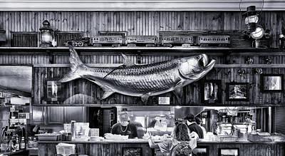 Loose Caboose Restaurant - Boca Grande Print by Frank J Benz