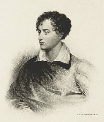 Print featuring the photograph Lord Byron, English Romantic Poet by British Library