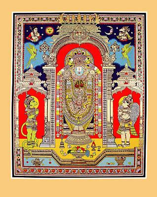 Reprint Painting - Lord Venkateswara by Santi Arts