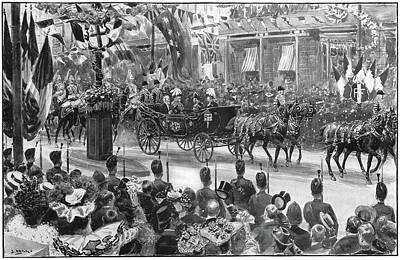 Belle Epoque Drawing - Loubet In London, 1903 by Granger