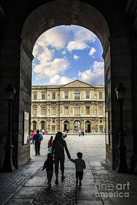 Travel Photograph - Louvre by Elena Elisseeva