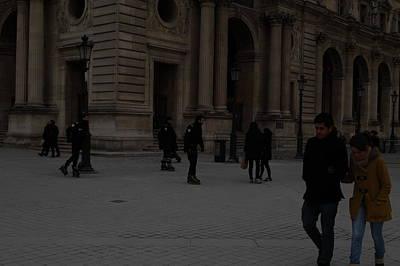 Framed Photograph - Louvre - Paris France - 01136 by DC Photographer