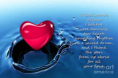 Heart Mixed Media - Love by Marvin Blaine