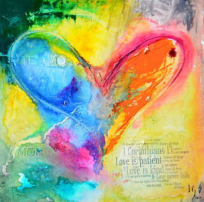 Christian Artwork Painting - Love Never Fails by Ivan Guaderrama