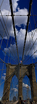 Low Angle View Of A Bridge, Brooklyn Print by Panoramic Images