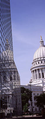 Capitol Building Photograph - Low Angle View Of A Government by Panoramic Images