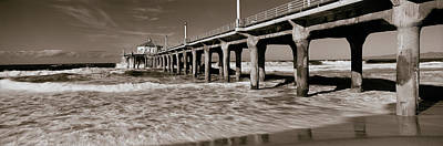 Built Structure Photograph - Low Angle View Of A Pier, Manhattan by Panoramic Images