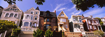 In A Row Photograph - Low Angle View Of Houses In A Row by Panoramic Images