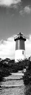 Nauset Beach Photograph - Low Angle View Of Nauset Lighthouse by Panoramic Images