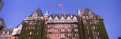 Empress Photograph - Low Angle View Of The Empress Hotel by Panoramic Images