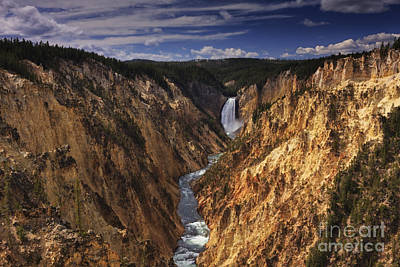 Unspoiled Art Photograph - Lower Yellowstone Falls II by Mark Kiver