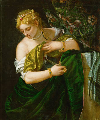 Lucretia Painting - Lucretia by Paolo Veronese
