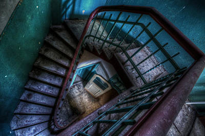 Eerie Digital Art - Lunatic Stairs by Nathan Wright