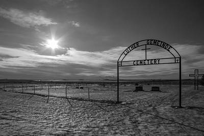 Luther Gemeinde Cemetery Print by Chad Rowe