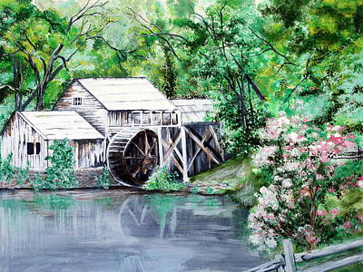 Mabry Mill Print by Vickie Wright