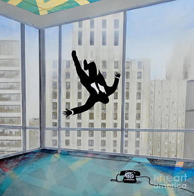 Advertising Painting - Mad Men Falling Man by John Lyes
