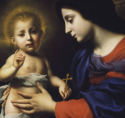 Crucifix Painting - Madonna And Child by Carlo Dolci