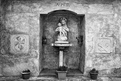 Architecture Photograph - Madonna And Child Shrine At Carmel Mission by Priya Ghose