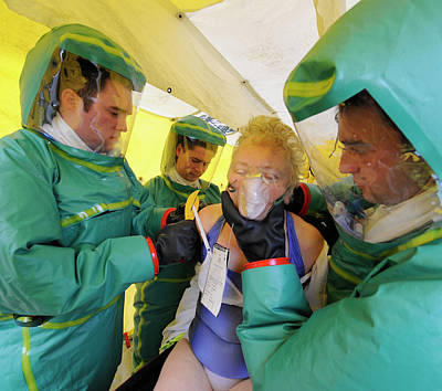 Terrorist Photograph - Major Emergency Decontamination Training by Public Health England