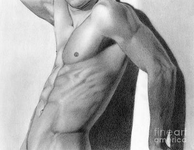 Male Nude Drawing Drawing - Male Nude 7 by Stefano Campitelli