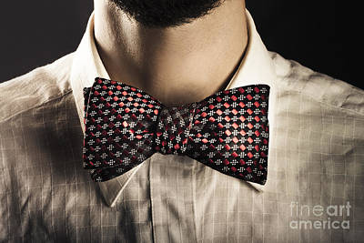 Man Wearing An Elegant Bow Tie Print by Jorgo Photography - Wall Art Gallery