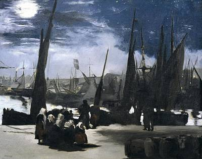Impressionist Impressionist Photograph - Manet, �douard 1832-1883. Moonlight by Everett