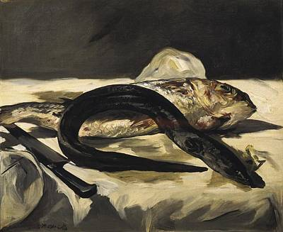 Still Life With Fish Photograph - Manet, �douard 1832-1883. Still Life by Everett