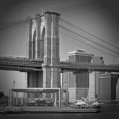 Manhattan Brooklyn Bridge Print by Melanie Viola