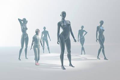 Mannequins Print by Carol & Mike Werner