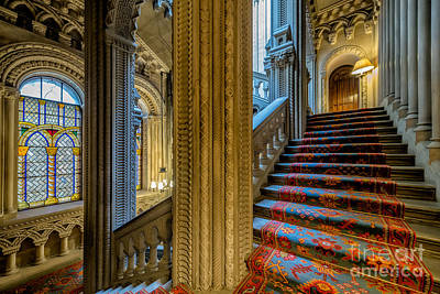 Mansion Stairway Print by Adrian Evans