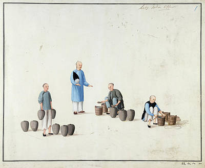 Manufacture Of Vermilion Print by British Library