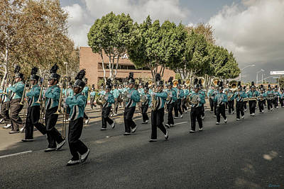 Marching Band Photograph - Marching Band by Shukis Lockwood