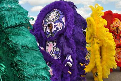 Mardi Gras Indians Original by Diane Lent