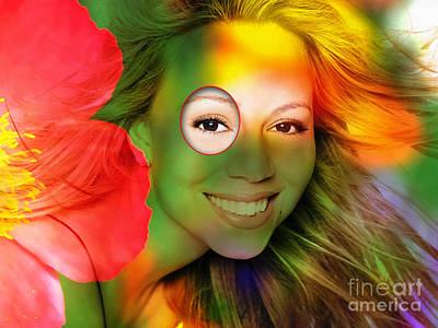 Mariah Carey Print by Marvin Blaine