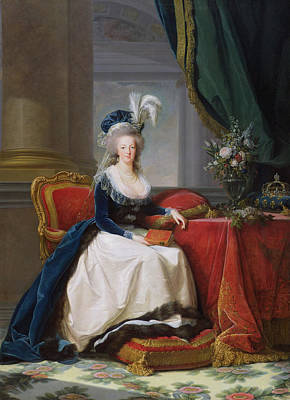 Ostrich Painting - Marie Antoinette by Elisabeth Louise Vigee-Lebrun