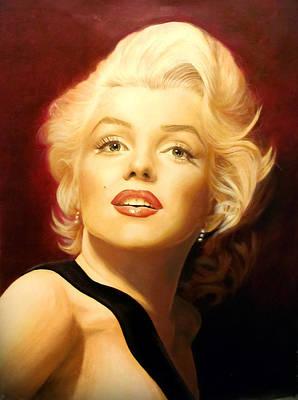Marilyn Monroe Print by Victoria Bella-Morte