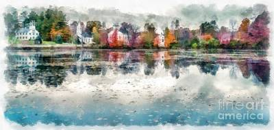 Marlow New Hampshire Print by Edward Fielding