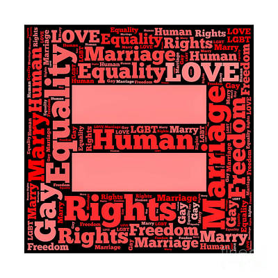 Marriage Equality For All Print by Amy Cicconi