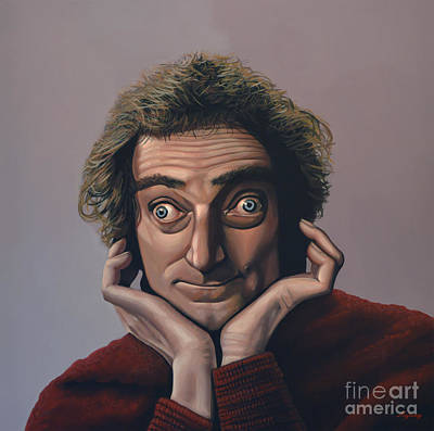 Clown Painting - Marty Feldman by Paul Meijering