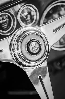 Maserati Steering Wheel Emblem Print by Jill Reger