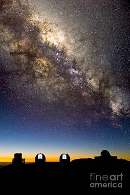 Mauna Kea Photograph - Mauna Kea Telescopes And Milky Way by David Nunuk