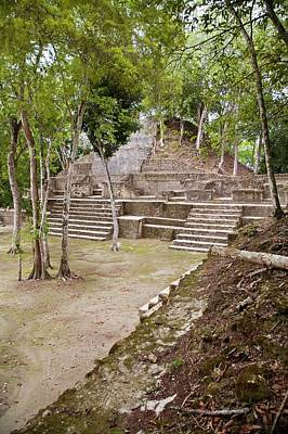 Belize Photograph - Maya Plaza And Temple by Jim West