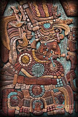 Mayan Hieroglyphs Print by Lee Dos Santos