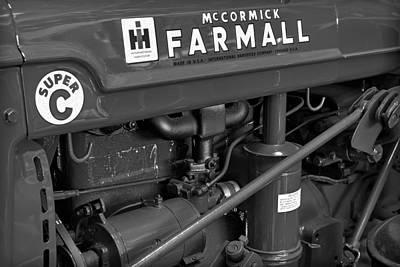 Mc Cormick Farmall Super C Print by Susan Candelario