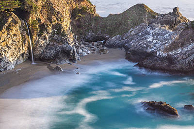 Big Sur California Photograph - Mcway Falls At Julia Pfeiffer Burns State Park by Priya Ghose